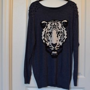 Forever 21+  Spiked Tiger Sweater
